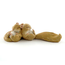 Miniature Garden Sleeping Squirrels 4353 Dollhouse  Fairy Gnome