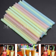 50 Bubble Boba Tea Fat Drinking Straws Party Smoothies Jumbo Thick Drink Straw
