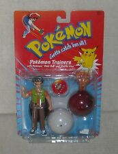 1999 POKEMON TRAINER BROCK FIGURE with VULPIX and POKEBALL MOC