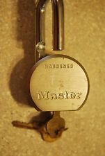 "Master Lock 930/950 Padlock Hardened Steel body 7/16"" Shackle Used"
