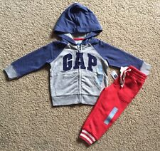 Toddler Boy Size 2 2T Baby Gap Arch Logo Hoodie & Sweat Pants Outfit