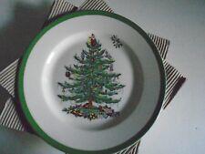 """Spode Christmas Tree Set of 4 Salad Plates  New 8"""""""