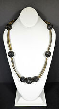 "Asian India Bone Horn Natural Beads Silver Plate Women 28"" Necklaces Fashion"