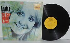 LULU Sings To Sir With Love LP 1967 Epic Records BN26339 Pop Rock Vocal Vinyl