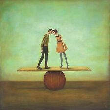 Finding Equilibrium Duy Huynh Figurative Fantasy Romance Print Poster 18x18