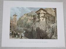 David Roberts Spain 1838 Engraving Art Print Remains of Moorish Bridge on Darro