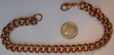 "2 New Vintage Heavy 1 OZ+ Solid Copper 9"" Bracelet/Anklets ~ Arthritis ~ CC119 ~"