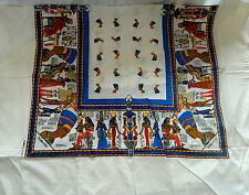 """Egyptian Cotton Nefertiti Tablecloth Napkins Rectangular Off White 84""""X 56"""" #14"""