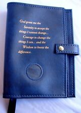 Deluxe Narcotics Anonymous NA Basic Text & How and Why Blue Cover Coin Holder