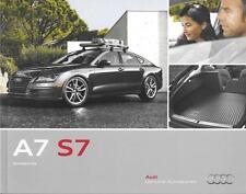 2014 14 Audi  A7 S7  Accessories original sales  brochure  MINT