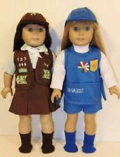 BROWNIE & DAISY Girl Scout Uniform Outfit fits 18 Inch American Girl Doll