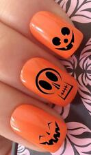 WATER NAIL HALLOWEEN PUMKIN CARVED FUNNY FACES TRANSFERS DECALS STICKERS *684