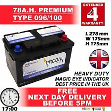 ROVER 75 1.8 2.0 2.5 PETROL 2.0 DIESEL CAR BATTERY 096 100 12V HEAVY DUTY SEALED