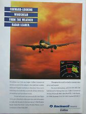 7/1995 PUB ROCKWELL COLLINS AVIONICS WEATHER RADAR DOPPLER DETECTION AIRLINER AD