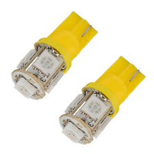 2PCS T10 194 168 super brillante 5 SMD 5050 LED lateral del coche bombillas