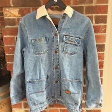 Ralph Lauren Vintage Women's Denim Jean Barn Jacket Safari Outfitters Sz Medium
