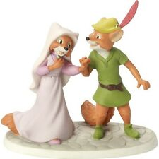 $ New PRECIOUS MOMENTS DISNEY Porcelain Figurine ROBIN HOOD MAID MARIAN FOX LOVE
