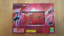Console Nintendo 3DS XL Pokemon XY rouge édition limitée u.k. PAL new & sealed