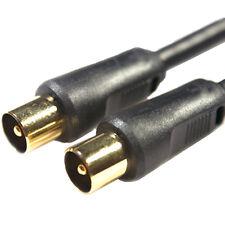 5m mâle à Prise Câble D'antenne -Or & blindé Coaxial/Coaxial Fil -TV