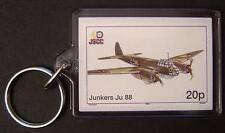Luftwaffe JUNKERS Ju-88 Bomber / Fighter WWII Aircraft Stamp Keyring