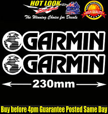 2 GARMIN Sticker Decal for GPS NAVIGATION ECHO 550c 100 FISH FINDER Fishing Boat