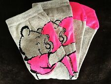 Di Alta Qualità Donna Regalo Calzini Biege Neon Rosa Disney Winnie The Pooh Design