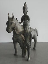 Unusual Old Southeast Asian Bronze Man on a Horse