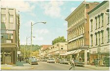 Scene on Liberty Street in Warren PA Postcard
