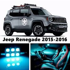 13pcs LED ICE Blue Light Interior Package Kit for Jeep Renegade 2015-2016