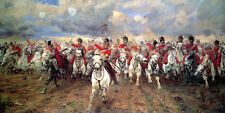 SCOTLAND FOREVER SCOTS GREYS BATTLE OF WATERLOO BY BUTLER ON PAPER REPRO SMALL