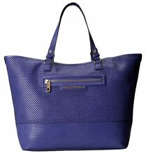 Juicy Couture BAG Sierra Blue Perforated Leather Large Tote Travel Beach