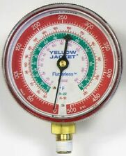 "Ritchie Yellow Jacket 49137 3-1/8"" Red Manifold Gauge 0-800 psi - R-22/404A/410A"