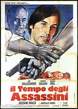IL TEMPO DEGLI ASSASSINI MANIFESTO CINEMA JOE DALLESANDRO 1975 MOVIE POSTER 4F