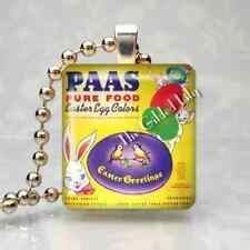 VINTAGE PAAS EASTER EGG DYE COLORS Scrabble Art Pendant