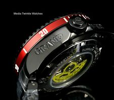 Invicta 47mm Grand Diver 2 Gen II Automatic Black & RED Accent Bracelet Watch