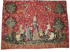 "'THE SMELL' Cluny Unicorn Series Belgium Tapestry Wall Hanging  NEW!   24"" x 33"""