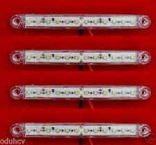4x 24V White 12 LED Side Front Marker Lights for Truck Trailer SCANIA DAF MAN