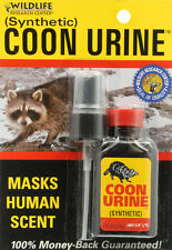 Coon Urine Hunting Cover Scent Full Synthetic Masking Raccoon Masks Human Odor