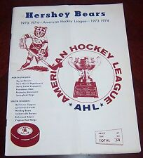 Hershey Bears program May 8 1974 vs Providence Reds Calder Cup Playoffs AHL