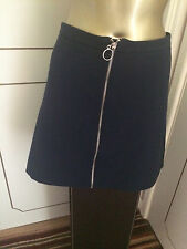 Navy blue mini skirt with zipper detail - size 18 - smart, summer, casual, party