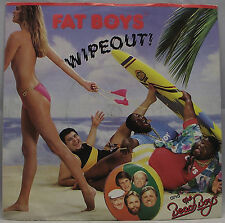 """FAT BOYS with Beach Boys - WIPEOUT Vinyl 7"""" Single 45rpm Urban Excellent"""