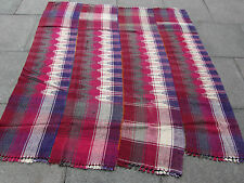 Old Tribal Nomadic Hand Made Persian Oriental Red Wool MOJJ Kilim 183x179cm