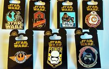 STAR WARS Set of 7 pins Force Awakens - Disney Park Pins - NEW