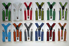 CHILDRENS/KIDS/BOYS/GIRLS PATTERNED ADJUSTABLE BRACES-Age 2-8yrs- Many Cols