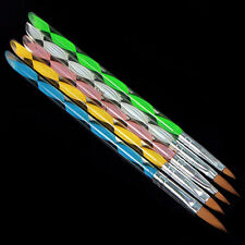 5PCS Acrylic Nail Art UV Gel Carving Pen Brush Liquid No. 2/4/6/8/10 HOT SALE