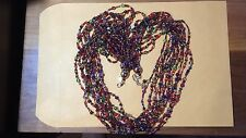 "BEAUTIFUL  JOAN RIVERS 12 Strand Torsade Necklace Crystals, Beads 36"", 3 1/2 ext"