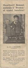 W1030 PROTON - Feleppa Daurizio - San Chirico Raparo - Pubblicità 1926 - Advert.