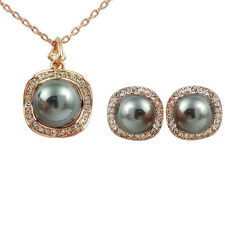 Fashion Jewelry - 18k Rose Gold Plated Imitation Pearl Set (FS183)