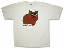 """THE WOMBATS """"SUNGLASSES"""" LIGHT GREY T-SHIRT NEW OFFICIAL ADULT BAND X-LARGE XL"""