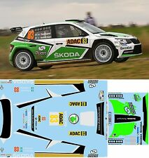SKODA FABIA R5 TIDEMAND  RALLY  GERMANIA  2016 DECALS  1/43